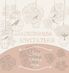 WeddingInvitationCages vector image