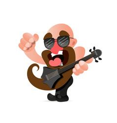 american rocker scream vector image