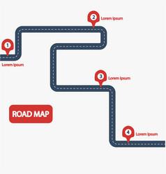 car road map vector image vector image