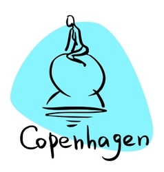 Copenhagen the capital of Denmark vector image