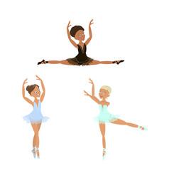 cute little ballerinas set vector image