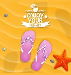 enjoy your summer vector image