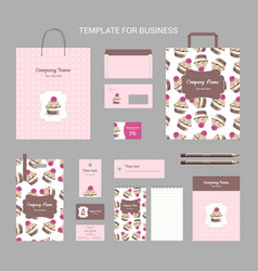 set of corporate vintage style confectionery vector image