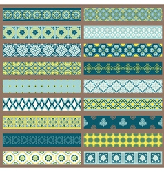 Set of Ribbons and Borders vector image vector image