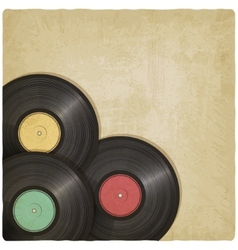 Vinyl record old background vector