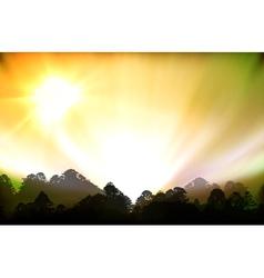 aurora polaris vector image vector image