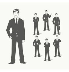 Businessman in suit vector image