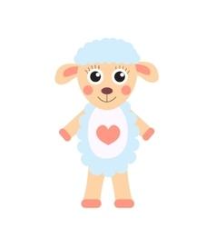 Cute cartoon character sheep children s toy sheep vector
