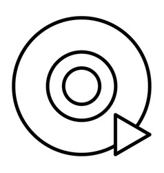 disc cd dvd line icon pictogram vector image