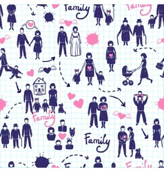 Family Seamless Pattern vector image
