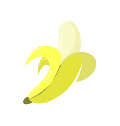 fresh banana peeled graphic vector image