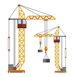 Industrial construction cranes flat style vector image vector image