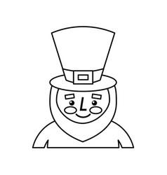 leprechaun st patricks day cartoon character vector image