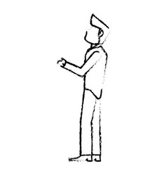 portrait groom wedding sketch vector image