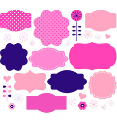 Retro paper patterned colorful tags vector image vector image