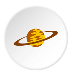 saturn icon circle vector image vector image