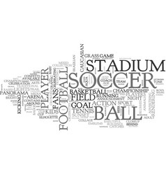 soccer word cloud concept vector image