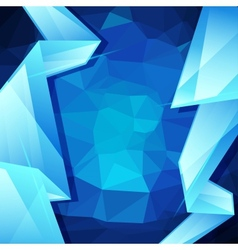 Abstract geometric background design template vector image