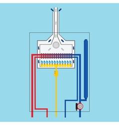 Gas boiler vector image vector image