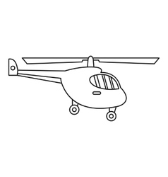 Helicopter icon outline style vector image