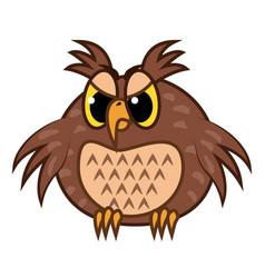 Isolated emoji character cartoon angry owl vector