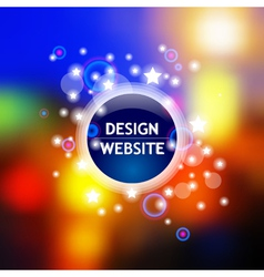 Light template vector image vector image