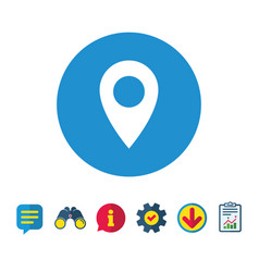 Map pointer icon gps location symbol vector
