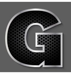 Metal grid font - letter G vector image