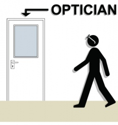 optician vector image vector image