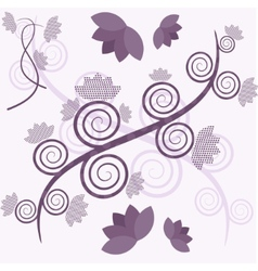 purple tree vector image vector image