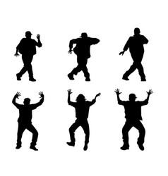 six dancing teenagers vector image