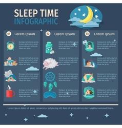 Sleep Time Infographics vector image