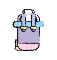 Backpack to go to exploration of vacation vector
