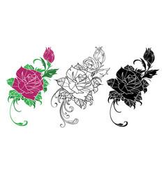 flower rose vector image