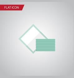 Isolated towel flat icon napkin element vector