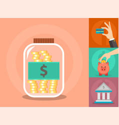 money commercial group payment investment vector image vector image