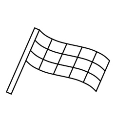 Racing flag icon outline style vector image