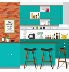remodel your kitchen vector image vector image