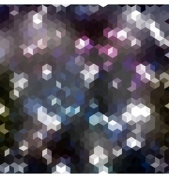 Seamless abstract geometric pattern with hexagons vector image vector image