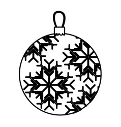 silhouette garland christmas with snowflakes vector image vector image