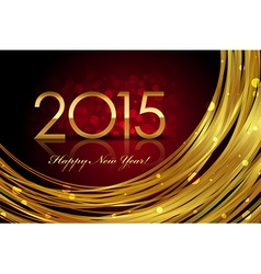 2015 red and gold glowing background vector