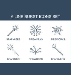 6 burst icons vector