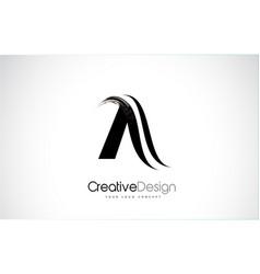 A letter design brush paint stroke letter logo vector