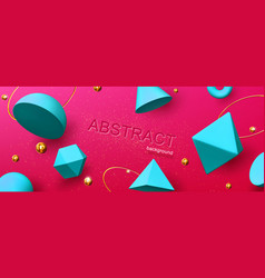 abstract background or banner geometric 3d shapes vector image