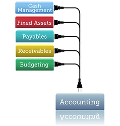 Accounting financial books plug vector
