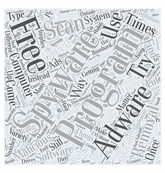 adware free removal scan spyware Word Cloud vector image