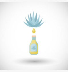 Agave syrup flat icon vector