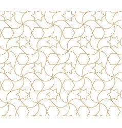 arabic seamless pattern islamic geometric vector image