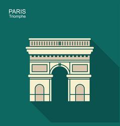 arc de triomphe paris france travel paris icon vector image