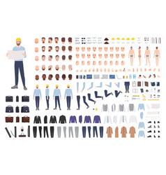 Architect or engineer diy kit collection male vector
